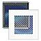 Grille alu cadre blanc + Précadre 150 x 150 mm