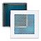 Grille alu cadre blanc + Précadre 150 x 300 mm