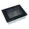 Grille en acier noire + Précadre 150 x 150 mm