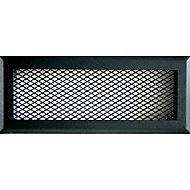Grille en acier noire + Précadre 220 x 80 mm