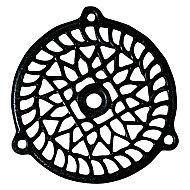 Grille fonte ronde noire diam. 110 mm