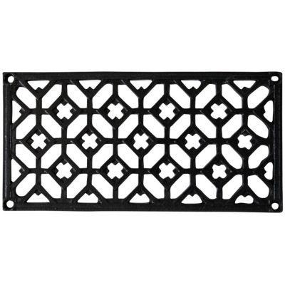 Grille De Soupirail De Cave grille fonte rectangulaire noire 120 x 240 mm   castorama