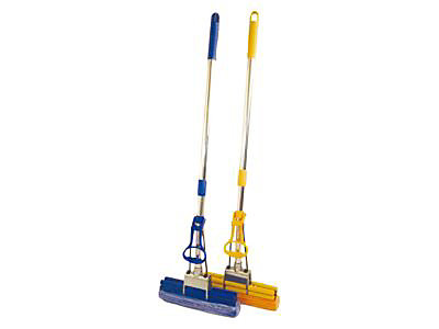 Balai Fixe Balai Orientable Pour Chariot De Menage Polypropylene Vert Tts Cleaning