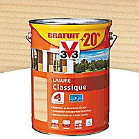Lasure bois classique V33 Incolore 5L + 20% - 4 ans