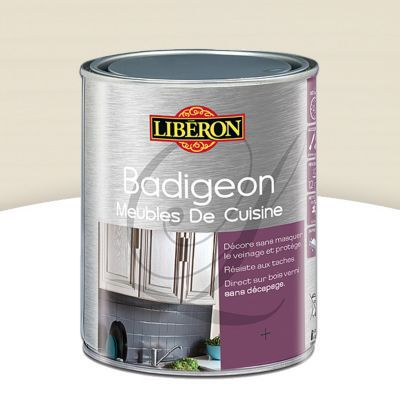 badigeon meubles de cuisine liberon blanc cr me 1l castorama. Black Bedroom Furniture Sets. Home Design Ideas