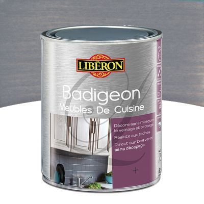badigeon meubles de cuisine liberon gris mousseron 1l castorama. Black Bedroom Furniture Sets. Home Design Ideas