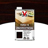 Huile et protection meubles et boiseries V33 wengé mat 0,5L