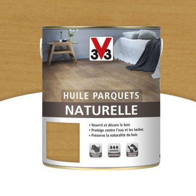 Huile naturelle parquets V33 miel mat 2,5L | Castorama
