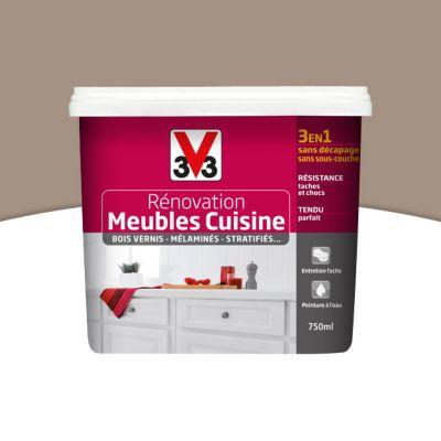 Peinture De Renovation Meubles Cuisine V33 Taupe Satin 0 75l