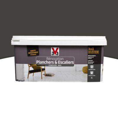 beautiful peinture de r novation planchers et escaliers v gris zingu satin with v33 colorissim. Black Bedroom Furniture Sets. Home Design Ideas