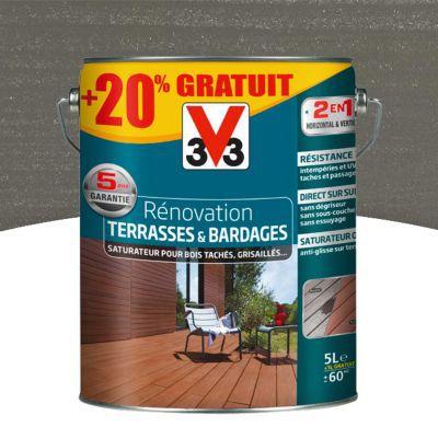 Rénovateur Terrasses Et Bardages V33 Bois Grisé 5l 20 Gratuit Castorama