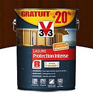 Lasure bois protection intense Chêne foncé 8 ans 5L + 20%