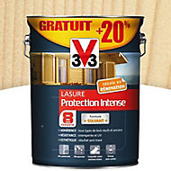 Lasure bois protection intense Incolore 8 ans 5L + 20%