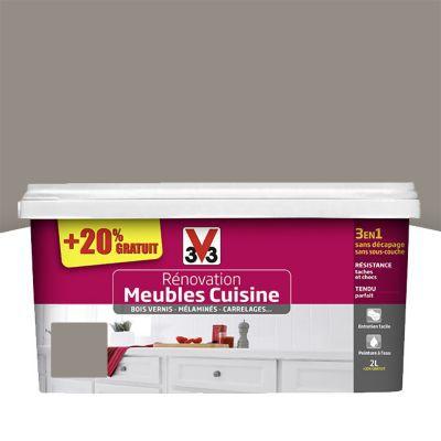 Peinture de r novation meubles cuisine taupe brillant 2l castorama - Peinture meuble cuisine castorama ...