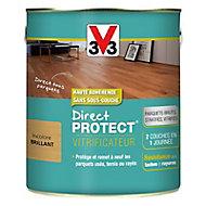 Vitrificateur parquet et plancher V33 Direct protect incolore brillant 2,5L