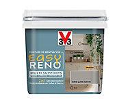 Peinture de rénovation multi-supports V33 Easy Reno gris lune satin 0,75L