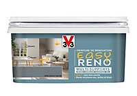 Peinture de rénovation multi-supports V33 Easy Reno gris galet satin 2L