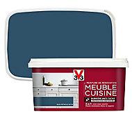 Peinture de rénovation meuble cuisine V33 bleu pétrole satin 2L