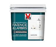 Peinture de rénovation faïence et lambris V33 blanc satin 750ml