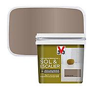 Peinture de rénovation sol et escalier V33 taupe satin 0,75L