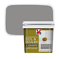 Peinture de rénovation sol et escalier V33 gris loft satin 0,75L
