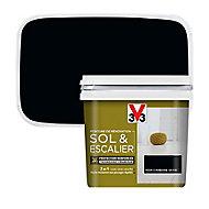 Peinture de rénovation sol et escalier V33 noir carbone satin 0,75L