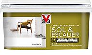 Peinture de rénovation sol et escalier V33 blanc satin 2L