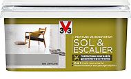 Peinture de rénovation sol et escalier V33 gris loft satin 2L