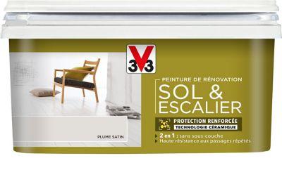 Peinture De Rénovation Sol Et Escalier V33 Plume Satin 2l