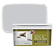 Peinture de rénovation sol et escalier V33 tendre gris satin 2L