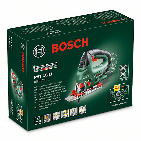 Scie sauteuse sans fil Bosch POWER4ALL PST18LI 18V (sans