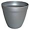 Bac rond plastique POETIC Doko aluminium Ø28 x h.26 cm