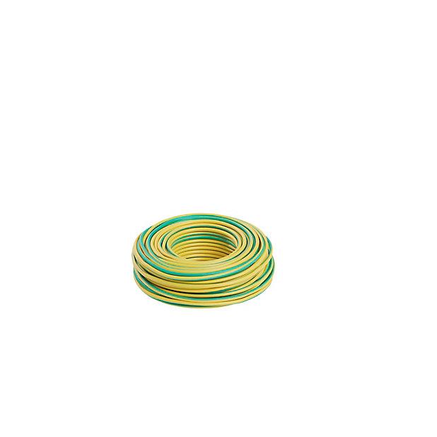 Fil 2 5mm H07vu Vert Jaune Couronne 25m Castorama