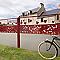 Poteau à sceller L.210 cm Dirickx Cottage rouge 3004