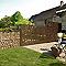 Poteau sur platine L.120 cm DIRICKX Cottage marron 8019