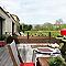 Poteau sur platine L.100 cm DIRICKX Cottage marron 8019