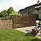 Poteau sur platine L.80 cm DIRICKX Cottage marron 8019