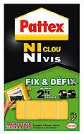 Adhésif de fixation Pattex ni clou ni vis, 10 pastilles - 2 x 4 cm