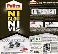 Pattex Ni Clou Ni Vis Chrono Invisible tube 200 g