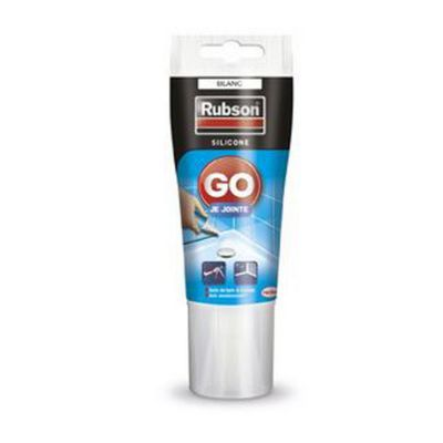 joint mastic silicone rubson go je jointe blanc tube 50 ml castorama. Black Bedroom Furniture Sets. Home Design Ideas