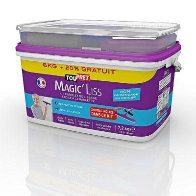 enduit de lissage toupret magic 39 liss 6kg 20 gratuit castorama