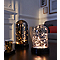 Lampe cloche microled verre ambré H.26 cm