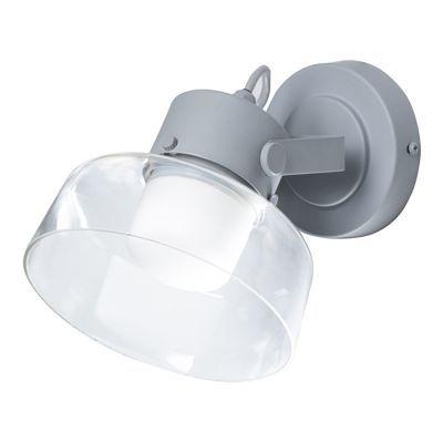 Spot patère salle de bain led corep mako métalverre anthracite 15 w