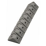 32 taquets d'assemblage gris alu