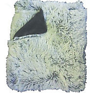 Plaid Rosie fausse fourrure gris 130 x 160 cm