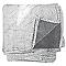 Plaid Ziggy gris 130 x 160 cm