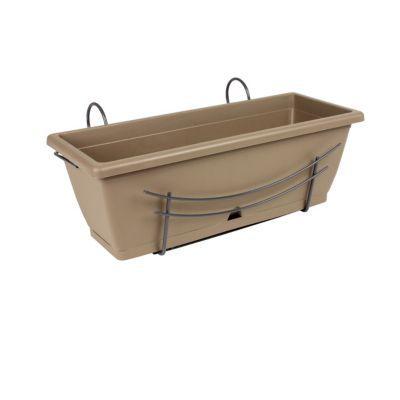 jardini re r serve d 39 eau support taupe 50 cm castorama. Black Bedroom Furniture Sets. Home Design Ideas