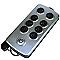 Bloc 8 prises parafoudre métallisé