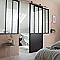Verrière 4 vitrages acier noir 109 x h.127,5 cm