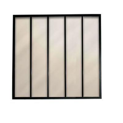 Verrière 5 vitrages acier noir RAL 9005G 135 x h.127,5 cm | Castorama